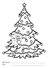 christmas tree coloring pages for kids printable free coloing
