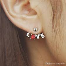earring pierced letter heart ear cuff stud dhl earring pierced ears