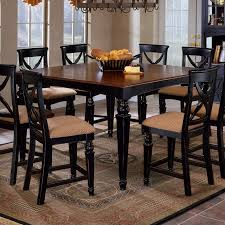 counter height dining room table hillsdale northern heights counter height dining table in black and