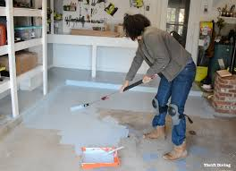 Removing Paint From Concrete Steps by How To Paint Garage Floors With 1 Part Epoxy Paint