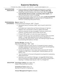Retail Resume Examples Resume For Retail Management