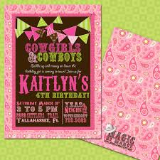 cowgirl party invitation wording for 3rd birthday invitations