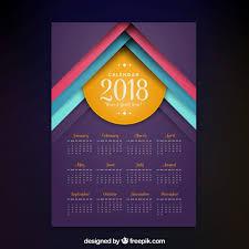 Calendar 2018 Ai Template Modern 2018 Calendar Vector Free
