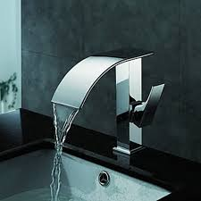 Pottery Barn Faucets Bathroom Modern Waterfall Sink Faucet With Glass Spoutchrome