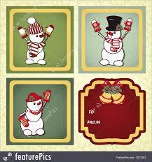 christmas gift labels illustration
