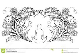 coloring pages yoga