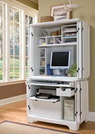 White Desk And Hutch by Furniture Computer Armoire For Inspiring Office Furniture Design