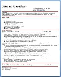 Child Care Worker Resume Template Nanny Job Description The Perfect Special Needs Nannyevery Child