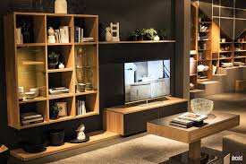 modular storage furnitures india wood cabinets living room corner creative showcase triangle image