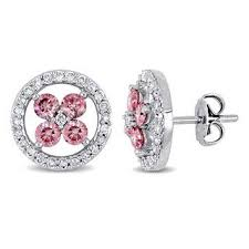 pink diamond earrings pink diamond earrings for less overstock