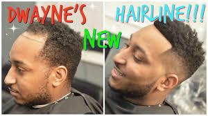 men hair weave pictures dwayne s new hairline dwayne gets man weave youtube