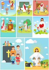 jesus christ with children vector vector diy easter free