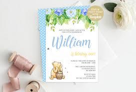 winnie pooh invitations classic winnie the pooh birthday invitation pooh birthday pooh
