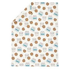 organic milk and cookies flannel toddler duvet cover the land of nod