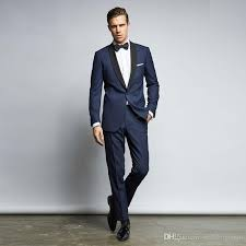mens suits for weddings handsome navy mens suits slim fit one button groom wedding