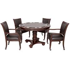 hathaway bridgeport 2 in 1 poker game table set in walnut finish