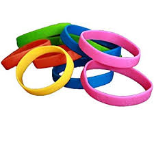 colored rubber bracelet images Bracelets 48 assorted neon colored wristbands jpg
