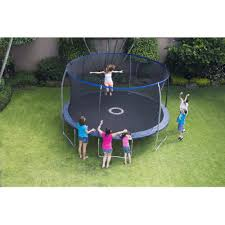 bouncepro 14 u0027 trampoline with steelflex enclosure and electron