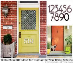 Decorative Name Plates For Home Creative Ideas For Displaying Your Home Address Diy House