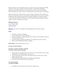 Resume Sle For Assistant Internship Cover Letter Interior Design Resume Sles Interior Design Resume
