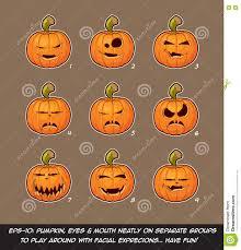 free jack o lantern clipart jack o lantern cartoon 9 vampire expressions set stock vector
