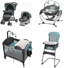 Graco Baby Swing Chair Graco Affinia Blue Complete Baby Gear Bundle Stroller Travel