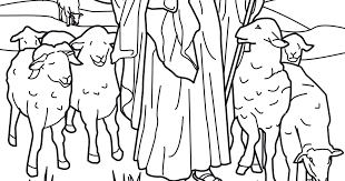 jesus the good shepherd coloring pages coloring pages