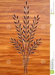 plant carving on wood stock image image of doorway creation