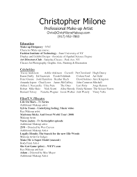 Fashion Resume Samples by Makeup Artist Resume Sample Berathen Com