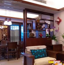 decorative wooden showcase partition gharexpert