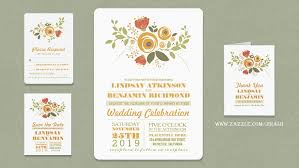 read more painted flowers casual wedding invitation