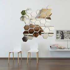 home decor dropship diy 3d home mirror hexagon vinyl removable wall sticker decal art