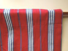 Red And White Striped Curtain Pottery Barn Striped Lined Curtains Ebay