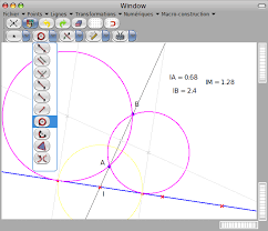 math software a program to draw simple geometry points lines