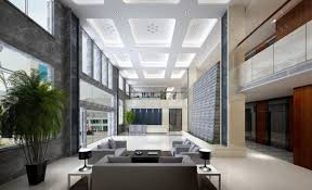Modern Lobby Home Office Office Entrance Lobby To Watermark Place Occupied By