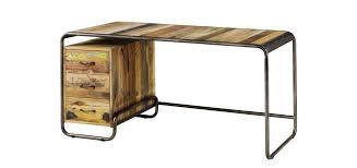 bureau bois et metal bureau dock bois recyclé achetez nos bureaux dock en bois