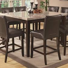 High Top Dining Room Table Cappuccino Dining Table Sets 5 Piece With Casual Counter Height