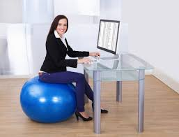 Yoga Ball As Desk Chair Ways To Exercise At Work