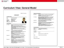 example of german cv and resume professional resumes sample online