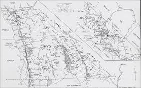San Bernardino County Map Inyo County