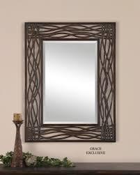 amazon com large woven sea grass wall mirror home u0026 kitchen