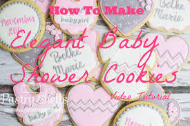 Elegant Baby Shower by Elegant Baby Shower Cookies Tutorial Youtube