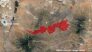 Wild Fire July 2017 by Sawmill Fire Causes Evacuations East Of Green Valley Az