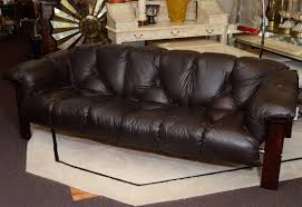 Mid Century Leather Sofa By Percival Lafer At 1stdibs