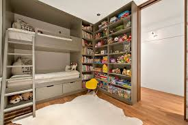 Built In Bunk Bed Contemporary Kids Bedroom With Custom Built In Bunk Beds And