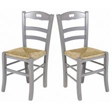chaises cuisine lot de 2 chaises de cuisine en gris perle