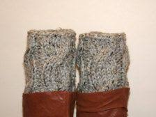 company 0742 womens leather knitted sock ankle boots boot cuffs knit boot cuffs yarns crochet boot cuffs and