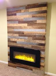 Fireplace Mantels Electric Using Reclaimed Wood And Pallets With A Modern Electric Fireplace