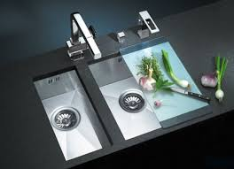 Stainless Steel Double Bowl Kitchen Sink  SMITH Design  The Way - Double kitchen sink