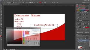 Dimensions For Business Cards Simple Tutorials Photoshop Cs6 Making A Buisness Card Youtube